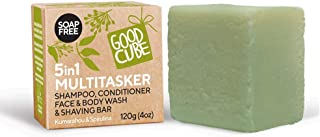 Good Cube 5 in 1 Multitasker Shampoo and Conditioner Bar, Face Cleanser, Shave Bar, Body Wash - For Daily Foaming and Cond...