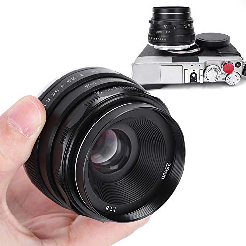 Obiettivo verticale, vetro ottico 25 mm F1.8 APS-C Frame E Mount Obiettivo verticale per Sony A6600 A6400 A6500 A6300 A6000 A5100 A5000 NEX-3 NEX-3N NEX-3R NEX-C3