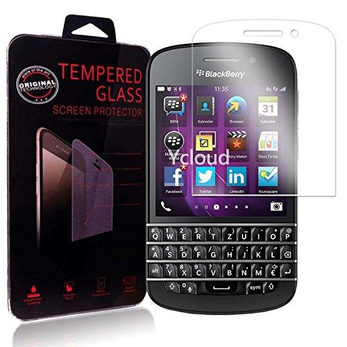 Ycloud Panzerglas Folie Schutzfolie Bildschirmschutzfolie für Blackberry Q10 screen protector mit Festigkeitgrad 9H, 0,26mm Ultra-Dünn, Abger&ete Kanten