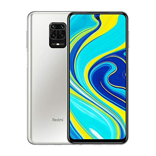 "Xiaomi Redmi Note 9S 6GB 128GB 48MP AI Quad Camera 6.67""FHD+ 5020mAh Typ18W Charge Rapide, Alexa Hands-Free, Blanc Glacier"