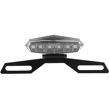 fanale posteriore a LED per motocicli con staffa per supporto targa Luce freno posteriore per moto