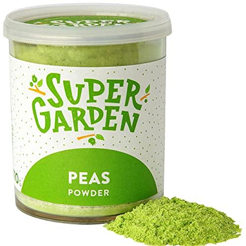Supergarden Gefriergetrocknetes Erbsenpulver - 100% Rein Und Natürlich - Für Veganer Geeignet - Ohne Zuckerzusatz, Künstliche Zusatzstoffe Und Konservierungsmittel