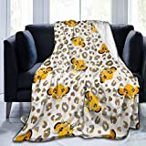 Partrest Throw Blanket,Lion Christmas King Leopard Soft Blanket Kids Sherpa Blanket for Family,50'X40' Lightweight Cozy Bed Blanket for Men Women,Perfect Throw for All Seasons Couch Sofa Warm Blanket