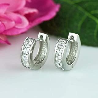 Best princess cut hoop diamond earrings Reviews