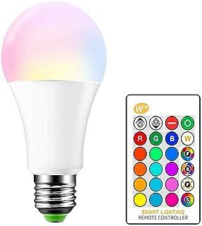 Ampoule Led Couleur Changement de couleur Ampoule 5W E27 RGBW LED Ampoules - RGB 15 choix de couleur - IR Télécommande [Cl...