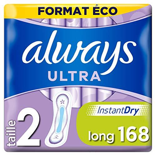 Always Ultra Servietten, lang, umweltfreundlich, 168 Stück