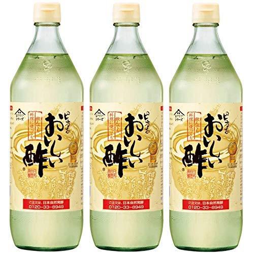日本自然発酵 おいしい酢 900ml 3本セット ペットボトル | 健康 飲料 まろやか ドリンク 料理 甘酢 果実酢配合 美味しい 飲める 国産