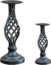 Garneck 2 peças de castiçal vintage porta-velas estilo nórdico, suporte de vela estilo nórdico, suporte retrô para casas, ...