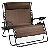 Best Choice Products 2-Person Double Wide Adjustable Folding Steel Mesh Zero Gravity Lounge Recliner Chair for...