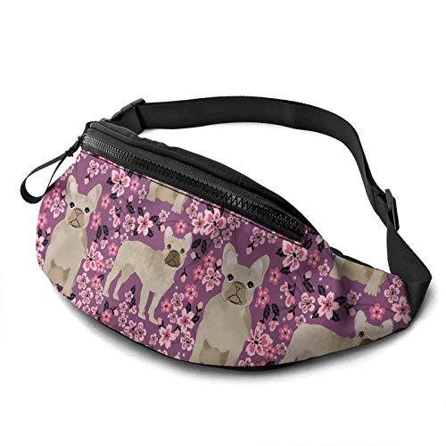 French Bulldog Casual Fanny Waist Pack For Men Women Adjustable Belt Waist Bag For Traveling Hiking Cycling Running Festival Rave
