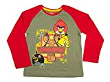 Angry Birds - Camiseta de manga larga para niños (4,6,8,10 años)