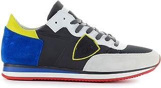 e075a8600ca0cc Philippe Model Chaussures Homme Baskets Tropez Mondial Gris Bleu SS 2019
