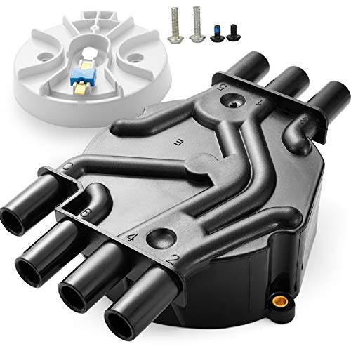 Distributor Cap and Rotor Kit 4.3L V6 for Chevy GMC Brass Terminals Compatible Part Number DR475 10452458 D328A C280 DR978 DR978G 1996-2005