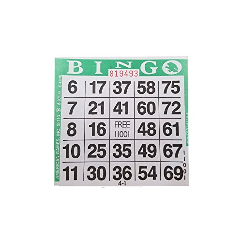 Find Bargain American Games 1on Green Bingo Paper (500 Sheets)