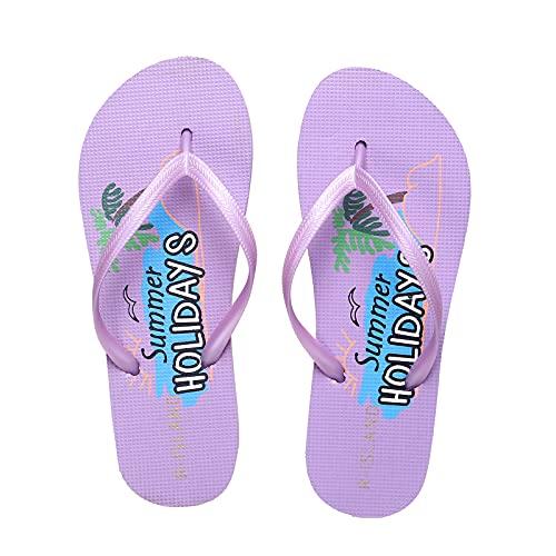 R-ISLAND Infradito Donna in EVA Flip Flops Ciabatte Donna Scarpe da Spiaggia e Piscina Interne Esterne Estivi Per Adulti (X21463 Viola, numeric_38)