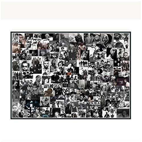 Chihie Rap Gods Rapper Hip Hop Music Singer Stars Collage Music Art Posters Print Living Room Home...