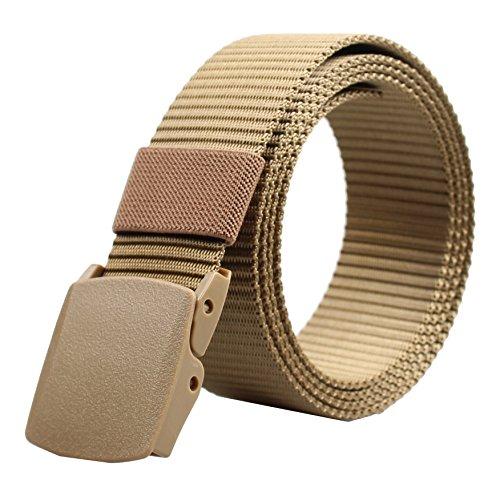 ALAIX - Cinturón de nailon, de 4 cm de ancho, con hebillas dobles no métalicas - única - Beige-Wave