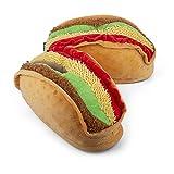 Coddies Taco Slippers   Unisex Funny Slippers, Novelty Comfortable Pantuflas, Men, Women & Kids (4-7.5 Men   6-9.5 Women) Brown