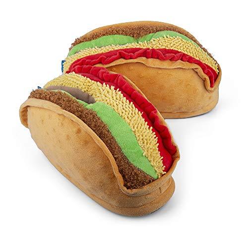 Coddies Taco Slippers | Cinco de Mayo Gift, Unisex Funny Slippers, Novelty Comfortable Pantuflas | Men, Women & Kids (8-11 Men | 10-13 Women)