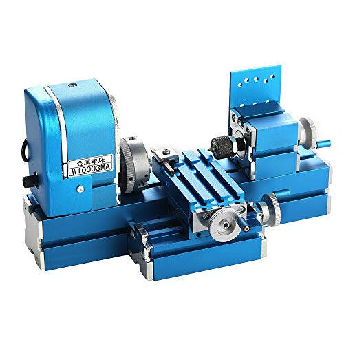 powerful Mini Metal Lathe CNC DIY Tool Desktop Wood Lathe Motor Motor Woodworking Hobby…