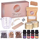 DIY Candle Making kit for Adults – Sweet Water Candles – Candle Making - Make Scented Soy Wax Candles with Candle Supplies kit - Includes Candle Wick, Dry Flower, Fragrance Oil and Labels