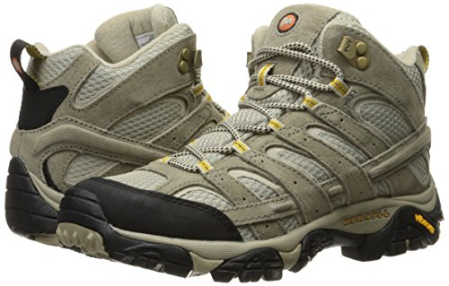 Merrell Women's Moab 2 Vent Mid Hiking Boot, Taupe, 8.5 W US