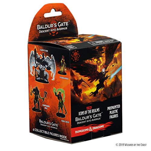 Wizkids Games Dungeons & Dragons: Icons of The Realms: Baldur's Gate - Descent into Avernus Booster Pack (1 Box)