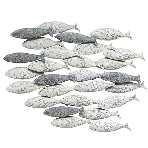 Stratton Home Decor S07742 Centerpiece, 36.75 W x 2.00 D x 26.25 H, Grey