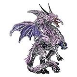 Nemesis Now - Figura Decorativa de dragón Morado, 18 cm, Color Morado