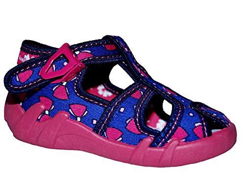 Renbut Kinderhausschuhe Baby Mädchen Kinder Hausschuhe Sandalen Einlegesohlen Leder Pink Blau Schuhgröße EUR 21