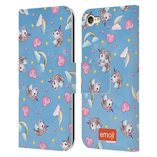 Head Case Designs Officially Licensed Emoji Unicorn Rainbow BFF Sparkles and Pastels Leather Book Wallet Case Cover Compatible with Apple Touch 6th Gen/Touch 7th Gen