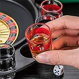 Bere Roulette Set Gioco, Partito Bere Spin Shot con 2 Palline e 16 Bicchieri Casino Colpo Roulette Spinning per Adulti Fun Bar Party