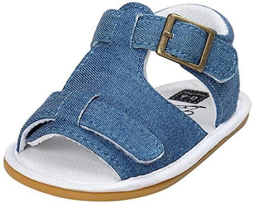 Sandalias para niños y niñas, LukyTimo Verano Zapatos Recién Nacido Plano Casual Comodas Goma Antideslizante Sandalias Unisex niños