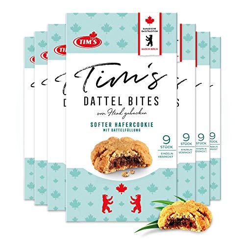Tims Original fruchtige Dattel Bites 7x 180 g I Hafer Cookies mit Dattel-Füllung I Einzeln verpackte, saftige Haferkekse I Leckeres Kaffee-Gebäck I Traditionelle kanadische Backwaren Made in Germany