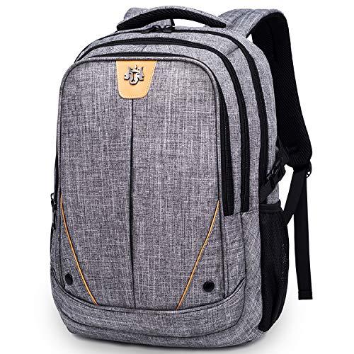 WindTook 15,6 Zoll Laptop Rucksack Notebook Daypack mit USB-Ladeanschluss Herren Damen, für Business Schule Uni Alltag, Grau