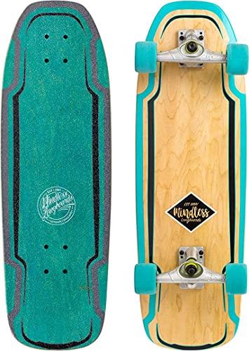 Mindless Longboards Surf Skate, Longboard Skateboard Unisex Adulto, Verde (Green), 9.5'