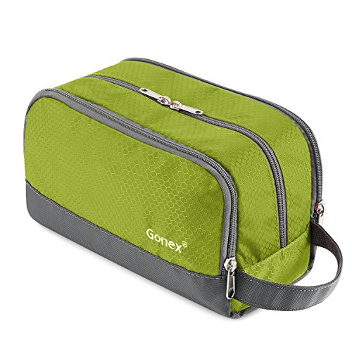 Gonex Men Toiletry Bag with Strap Sport Style Repellent Showerproof Nylon Green