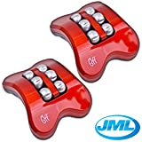 JML® Foot Massager Booster Relief Feet Relaxation Electric Rolling Vibration - Set of 2