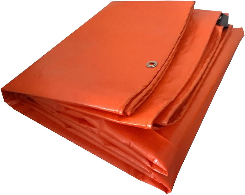 AJZGF Regenschutz Wasserdicht Orange Plane, Wasserdichte Poncho Camping Matte, Sonnenschutz staubdicht, korrosionsschutz, Anti-Oxidation, (Farbe   Orange, Größe   4 x 8m) B07FM8Q9GM  eine große Vielfalt von Waren