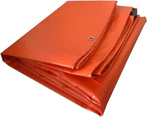AJZGF Tissu Imperméable à l'eau Imperméable Bache Orange, Tapis de Camping Poncho Imperméable à l'eau, Crème Solaire Anti-Poussière, Anti-Corrosion, Anti-oxydation,