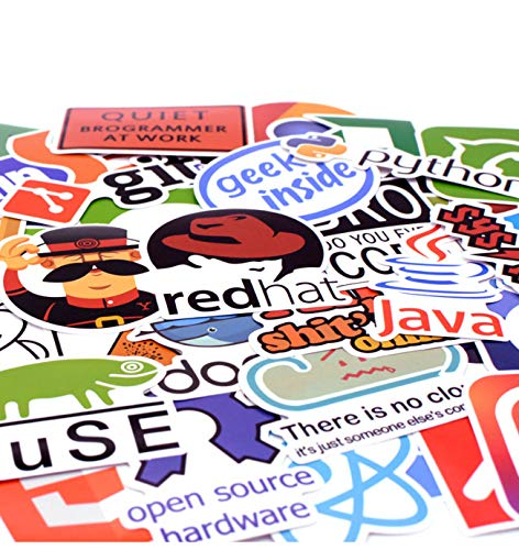 50pcs/Pack Programming Language Sticker Internet Java JS PHP HTML Cloud Docker Bitcoin APP Stickers for Laptop Car DIY Sticker