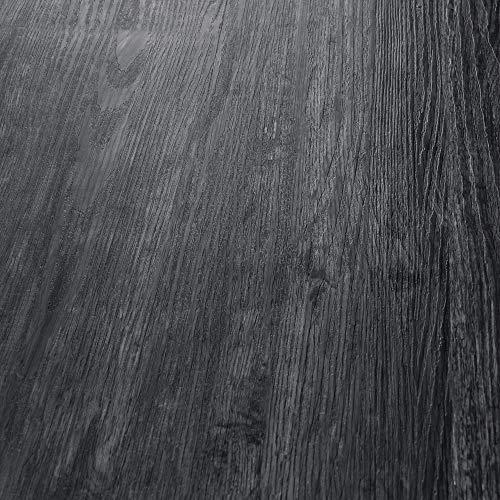 neu.holz Pisos de Vinilo-PVC Decorativo Diseño de Pisos laminados Suelo Autoadhesivo 28 planchas Decorativas = 3,92 m² Roble Nocturno 'Night Oak'