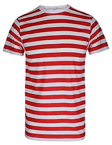 Camiseta de manga corta para hombre, mujer y niño, diseño a rayas...