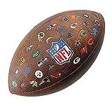 Wilson WTF1534XBNFL Pelota de fútbol Americano JR Throwback 32 Team Logo con los Logos de la NFL, para niños y Adolescentes, Marrón, Talla Única