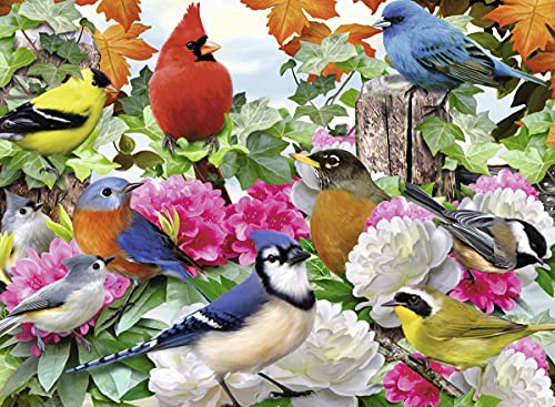 Ravensburger Garden Birds 500 Piece Jigsaw Puzzle for Adults - Every Piece is Unique, Softclick Technology Means Pieces Fit Together Perfectly