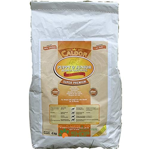 Caldor Puppy + Junior Huhn & Kartoffel   getreidefrei   alle Rassen   12 kg Sack   Hunde Trockenfutter