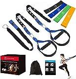 Sangles de suspension FITINDEX cross training kit, strap training domicile, bande réisistance fitness, musculation poids de corps à domicile ou pour s'entraîner en plein air