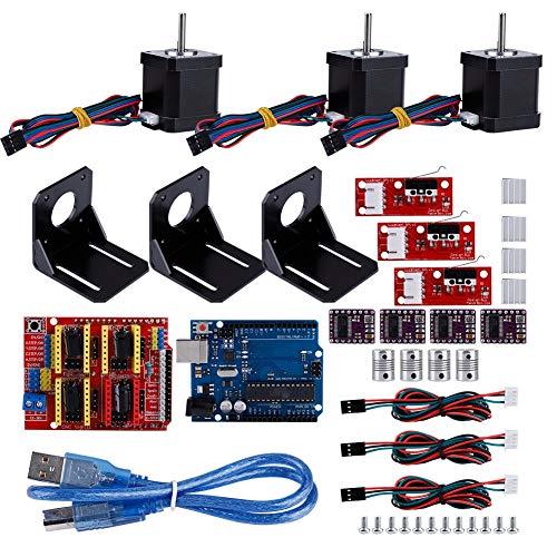 01 CNC-Kit, 12 M3-Schrauben mit Kühlkörper 4 Kupplung 3D-Druckerzubehör Kit 3D-Druckerzubehör, für Nema 17 Schrittmotor 3D-Drucker