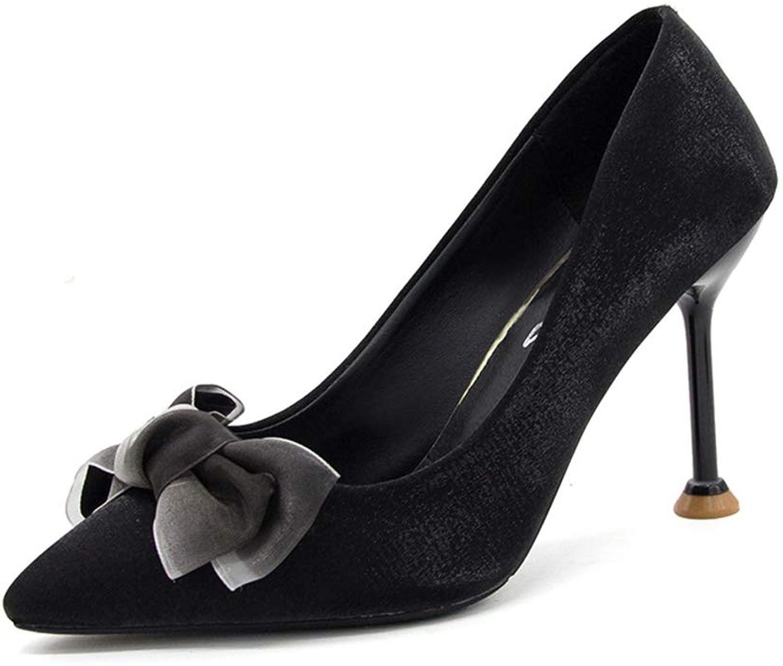 238dhdf3effggf Pointed high Heels Women's Temperament Stiletto Women's shoes