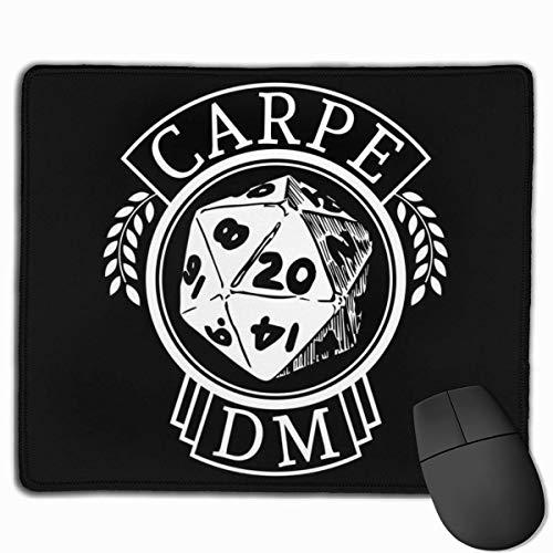 Mauspad Dungeons und Drachen Carpe Dm Schreibtisch Mousepad 11,8x9,8 Zoll rutschfeste Gummibasis, Tastaturpadmatte für Computer/Laptop